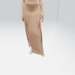 Simple Split Skirt Beige (TM)