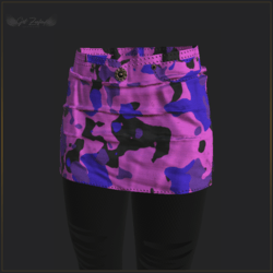 ARMY SKIRT WITH LEGGINGS-PINK