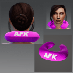 "Travel Pillow -  Pink AFK - Relieves Heavy Head Syndrome ""HHS"""