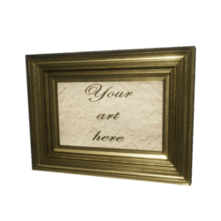 Customizable Gold Frame