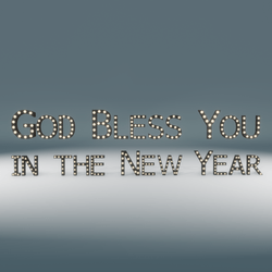 God Bless You in the New Year Marquee Blinking Sign