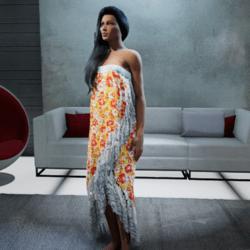 Polynesian Wrap Dress #6