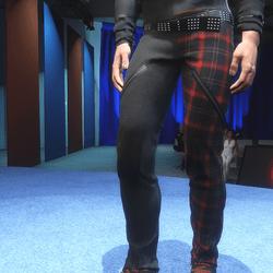 FREE Freak Pants: Black & Red Tartan - Male