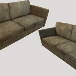 Old Dirty Couch - Brown