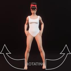 model pose 06 rotating