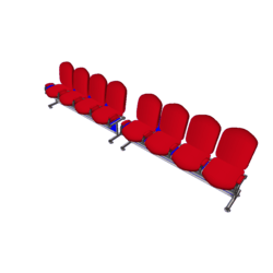 Auditorium Chairs x 8 B