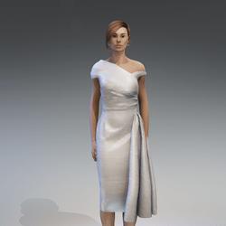 AV 2.0  Vintage elegant dress - grey