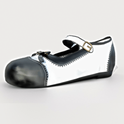 Mary-Jane Shoes Black White