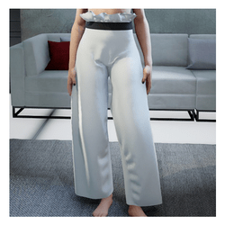Loose Pants White
