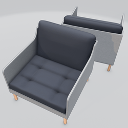 Chronicle Lounge Chair Blue
