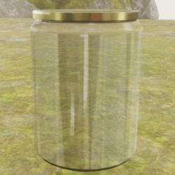 Empty Jar With Golden Lid