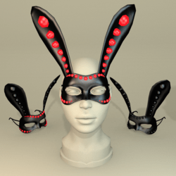 BUNNY-MASK/Black-Red