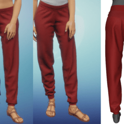 Red Exercise Pants