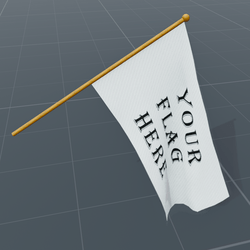 Template flag, tilted