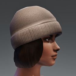 Winter Cap with Color change Cap - Brown FEMALE