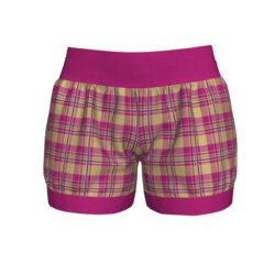 Woman Short - Plaid