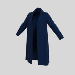male coat dark blue