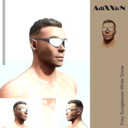 Frey Sunglasses White Snow