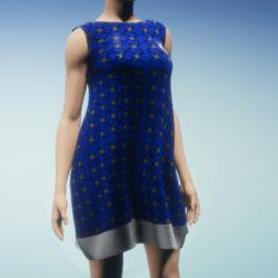 Little Starry Silk Dress