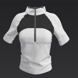 Sporty Top Charcoal and White VA