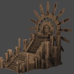 Aztec Imperial Throne