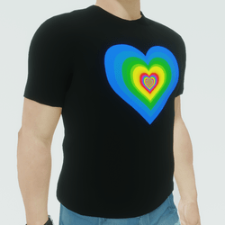 Pride Heart Animated Tee (male version)