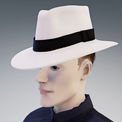 Stylish White Fedora Hat