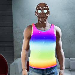 Male go-GLOW Pride Tank Top (Non-Animated)