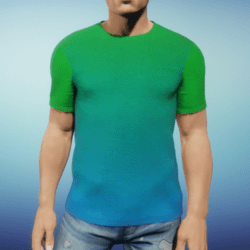 Mens Tee - Green Blue