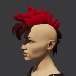 TKA-Punk crest hair