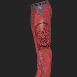 JEANS PANTS MALE RED BLUE