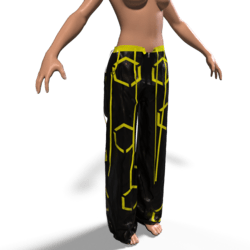Raver Pants Female - Yellow