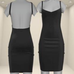 Pencil Sexy Dress Black