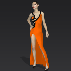 """Amida black orange """"Elisea Carter"""""""