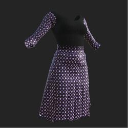 Purple Polkedot Skirt Oufit