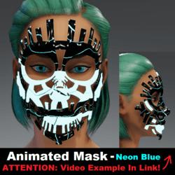 Animated Mask: Neon Blue - Female Avatars