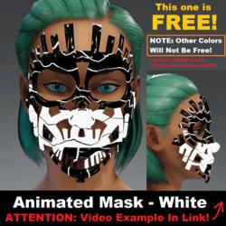 Animated Mask: White - Female Avatars