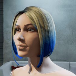 Hair Maya two tone blue tintable