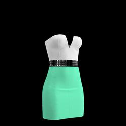 80's Day-Glow Club Dress 04