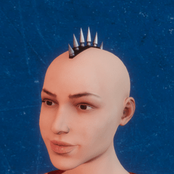 Accessory for head with métal studs