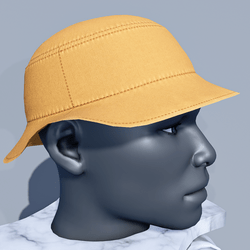 Men Bucket Sun Hat - Yellow Butterscotch