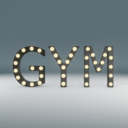 Gym Marquee Blinking Sign