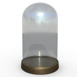 BEGAVNING Glass Dome /w Base