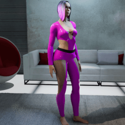 Outfit Carla Latex 2.0 pink