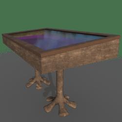 Wooden Display Case w/ Felt (Scripted)