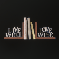 Live Well Love Wise Bookends