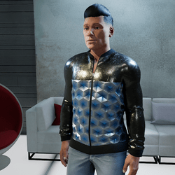 Male Jacket cobalt blue