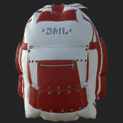 BACKPACK WHITE MC RED
