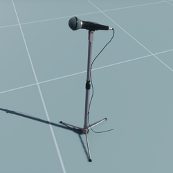 CLASSIC MICROPHONE (scaled stand-adjustable)