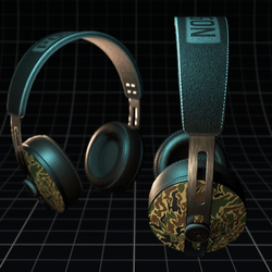 Polygon ~ Headphones Camo Green